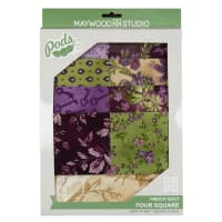 Maywood Studio Quilt Kit Aubergine Four Square Multi