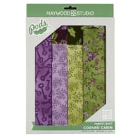 Maywood Studio Corner Cabin Quilt Kit Aubergine Multi