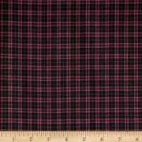 Rustic Woven Small Plaid Black/Pink/Wine