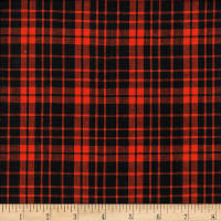 Rustic Woven Small Plaid Black/Orange
