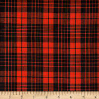 Rustic Woven Large Plaid Black/Orange