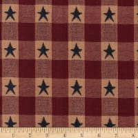 Old Glory Jacquard Star Check Yarn Dyed Wine/Navy