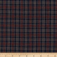 Old Glory Plain Plaid Check Yarn Dyed Navy/Wine