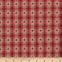 Country Cupboard Jacquard Star Plaid Yarn Dyed Wine