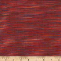 Winding Ridge Ikat Yarn Dyed Red
