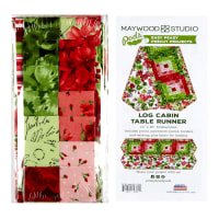 "Maywood Studio Pods Chloe Log Cabin 13"" x  45"" Table Runner Pod Kit Multi"
