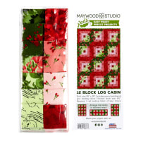 "Maywood Studio Pods Chloe 12 Block Log Cabin 29"" x 39"" Quilt Pod Kit Multi"