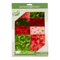 Maywood Studio Pods Chloe Four Square Quilt Pod Kit Multi