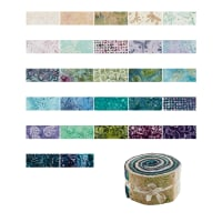 "Maywood Studio Coastal Chic Batiks  2.5"" Strips 40 Pcs Multi"
