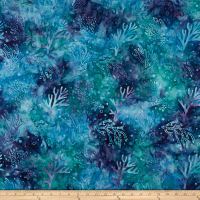 Maywood Studio Coastal Chic Batiks Coral Teal/Purple