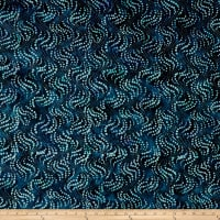 Maywood Studio Coastal Chic Batiks Flowing Bubbles Indigo