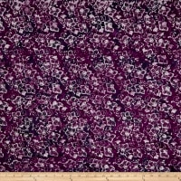 Maywood Studio Coastal Chic Batiks Wavy Flowers Wine