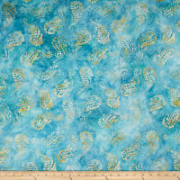 Maywood Studio Coastal Chic Batiks Seahorses Teal