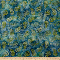 Maywood Studio Coastal Chic Batiks Seahorses Blue/Green