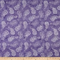 Maywood Studio Coastal Chic Batiks Seahorses Purple