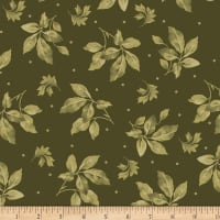 Maywood Studio English Countryside Spaced Leaves Green