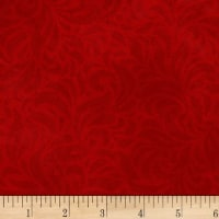 P&B Textiles Bella Suede Wide Floral Swirl Rust