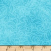 P&B Textiles Bella Suede Wide Floral Swirl Teal