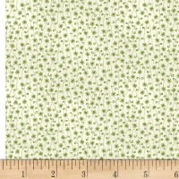 P&B-WSS Temperance Greens Tiny Flower Ecru/Green