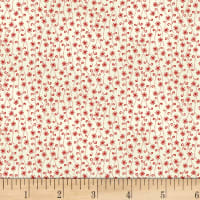 P&B-WSS Temperance Reds Tiny Flower Ecru/ Red