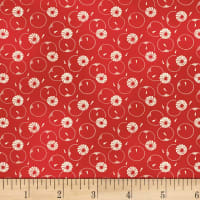 P&B-WSS Temperance Reds Floral & Circle Red