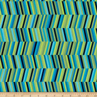 P&B Textiles Forest Fancies Stripe Green