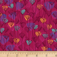 P&B Textiles Forest Fancies Leaves Red