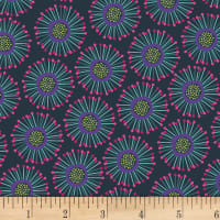 P&B Textiles Forest Fancies Circle Flower Teal