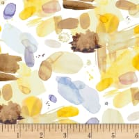 P&B Textiles Ink Flowers Transparent Stains Yellow