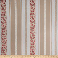 Fabricut Bimini Stripe Linen Blend Strawberry Cream