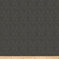 Fabricut Hex Sharp Chenille Charcoal