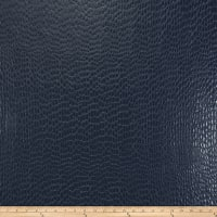 Fabricut Zirconium Steel Faux Leather Marine