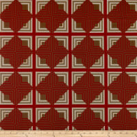 P&B Vintage Prestige Stripe Geometric Salmon/Brown