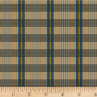 P&B Textiles A Soldier's Quilt Plaid Navy