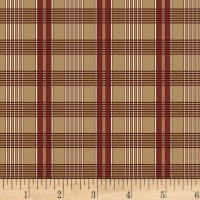 P&B Textiles A Soldier's Quilt Plaid Red