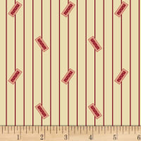 P&B Textiles A Soldier's Quilt Bars Red