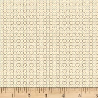 P&B Textiles A Soldier's Quilt Circles Light Blue