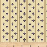 P&B Textiles A Soldier's Quilt Diamond Stripe Purple