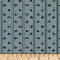 P&B Textiles A Soldier's Quilt Diamond Stripe Navy