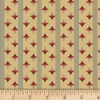 P&B Textiles A Soldier's Quilt Diamond Stripe Red