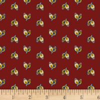 P&B Textiles A Soldier's Quilt Buds Red