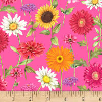 P&B Textiles Fresh Country Flowers Pink