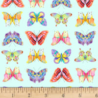 P&B Textiles Fresh Country Butterflies Blue
