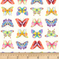 P&B Textiles Fresh Country Butterflies Multi