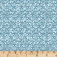 P&B Textiles Harmony With Nature Geometric Metallic Blue