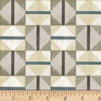 P&B Textiles Harmony With Nature Diamonds Metallic Multi