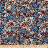 P&B French Paisley Large Paisley Blue