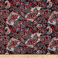 P&B French Paisley Large Paisley Red