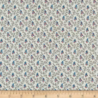 P&B French Paisley Vines & Buds Blue