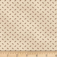 P&B French Paisley Ticking Brown
